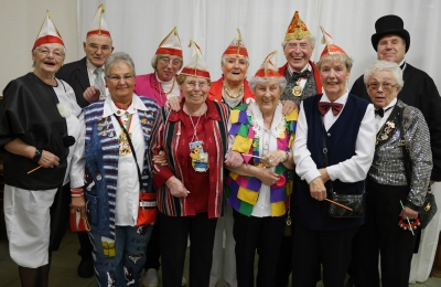 SBK-Sitzung 2014: Der SBK-Elferrat mit Präsident Ludwig Sebus (4 v. r.)