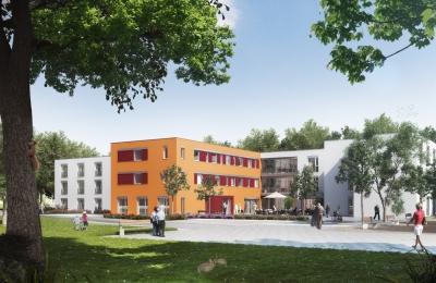 """Das zukünftige """"Haus 1"""" des Seniorenzentrum Köln-Riehl (Animation)"""